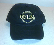 Adjustable cotton cap (Black) w/gold 92124 logo