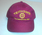 Adjustable cotton cap (Burgundy) w/gold circle cross