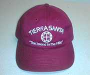Adjustable cotton cap (Burgundy) w/white circle cross