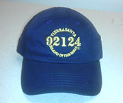 Adjustable cotton cap (Navy) w/gold 92124 logo