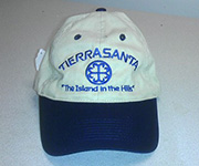 Adjustable cotton cap (Navy/Khaki) w/navy circle cross