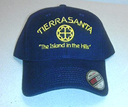 Fitted cap (Navy) w/gold circle cross logo