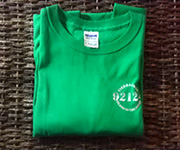 Men's crew (Kelly Green) w/white 92124 logo