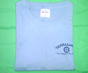Men's crew (Light Blue) w/navy blue circle cross logo
