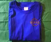 Men's crew (Royal) w/gold 92124 logo