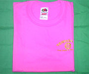 Youth crew (Pink) w/gold circle cross logo