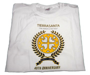 Mens white crew Tierrasanta 40th Anniversary