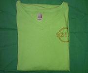 Women V-Neck (Lime) w/gold 92124 logo