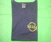 Women V-Neck (Navy) w/gold 92124 logo