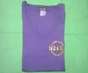 Women V-Neck (Purple) w/gold 92124 logo