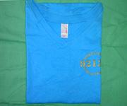 Women V-Neck (Turquoise) w/gold 92124 logo